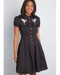 549f1a7fb9 On sale Hell Bunny - Couldn't Agree Amour Shirt Dress - Lyst