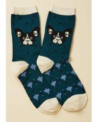 ModCloth - Friendly Frenchies Socks - Lyst