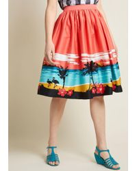 Collectif - X Mc Explorative Existence Cotton A-line Skirt - Lyst