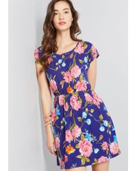 9ec8095fdeb Lyst - ModCloth Charming Connections Floral Dress in Orange