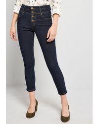 967898aa6a3 ModCloth - Karaoke Seamstress Buttoned Skinny Jeans - 26 In. - Lyst