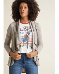 ModCloth - Airport Greeting Cardigan In Oatmeal - Lyst