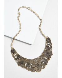 ModCloth - Glam Growth Floral Statement Necklace - Lyst