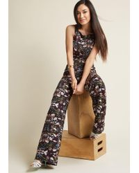 Collectif | Horticulture Chic Sleeveless Jumpsuit | Lyst