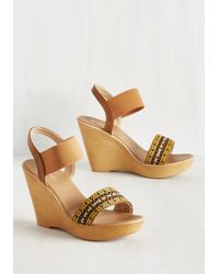 Top Guy International | Do You Be-weave In Magic? Wedge In Tan | Lyst