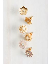c.A.K.e. By Ali Khan - Floral Decorum Earring Set - Lyst