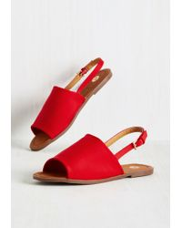 Machi Footwear - Two Steps Slingback Sandal In Crimson - Lyst