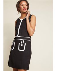 ModCloth - Retro Is Right Knit Shift Dress - Lyst