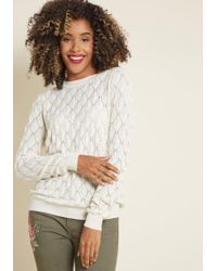 ModCloth - Looking Lively Textured Sweater - Lyst