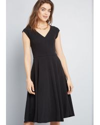 75bc33d2e746 ModCloth Icing On The Cape A-line Dress In Black in Black - Lyst