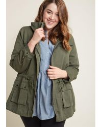 ModCloth - Escape Into Nature Jacket In Moss - Lyst