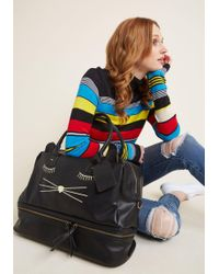 ModCloth - Cats Your Flight Weekend Bag - Lyst