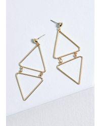ModCloth - Tri Me Geometric Earrings - Lyst