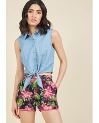 ModCloth - Crafters Conference Shorts In Tropical - Lyst