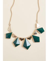 ModCloth - Dia-mand Attention Statement Necklace - Lyst