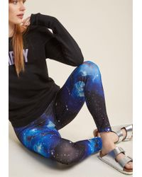 ModCloth | Fresh Take Leggings In Blue Universe | Lyst