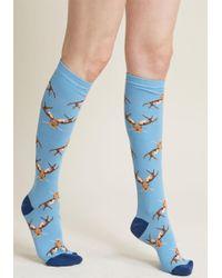 ModCloth - Jackalope, Be Nimble Knee Socks - Lyst