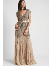 Adrianna Papell - Orchestral Opening Maxi Dress - Lyst