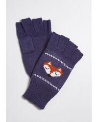 ModCloth - A Warm Afterthought Fox Glovettes - Lyst