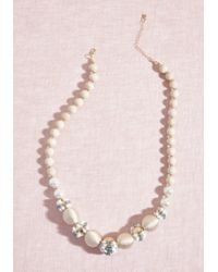 ModCloth - Gotta-have Glam Beaded Necklace - Lyst
