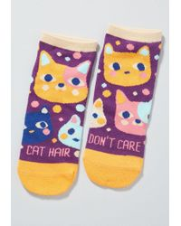 c9133324fdb5d Fur The Win Thigh Highs. $19. ModCloth · ModCloth - Cat Hair Don't Care  Ankle Socks - Size Os - Lyst