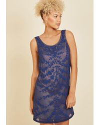 ModCloth - Known Intricately Mini Dress - Lyst