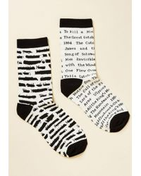 Out Of Print - One For The Banned Books Socks - Lyst