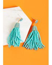 ModCloth - Classy Tassels Beaded Earrings - Lyst