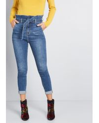 ModCloth - Tied Up High-waisted Skinny Jeans - Lyst