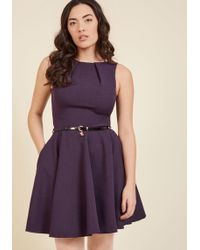 ModCloth | Luck Be A Lady A-line Dress In Violet | Lyst