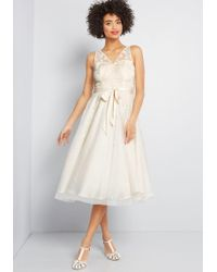ModCloth - Flawless For The Occasion Midi Dress - Lyst