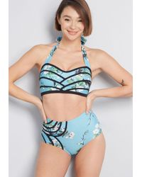 501c52dac7 Lyst - Modcloth Hollywood Hills Swimsuit Bottom in Blue