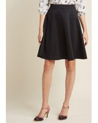 ModCloth - En Pointe Accompanist A-line Skirt In Black - Lyst