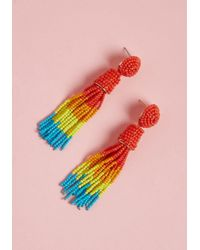 ModCloth - Classy Tassels Beaded Earrings - Lyst