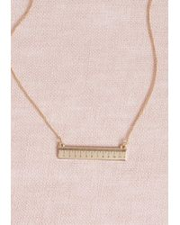 ModCloth | Measured Merriment Necklace | Lyst