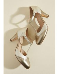 Chelsea Crew - Vivacious Vibes T-strap Heel In Gold - Lyst