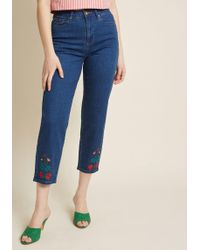 ModCloth - Enjoyment Achieved Cropped Jeans - Lyst