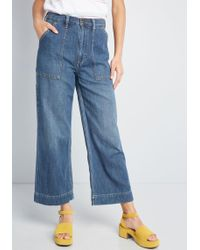 5da98fd8d8 Wrangler - All About Utility Wide-leg Cropped Jeans - Lyst
