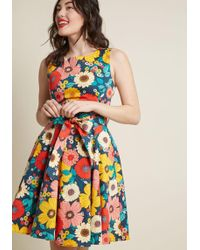 ModCloth - Hour By Flower A-line Dress In Retro Blossom - Lyst