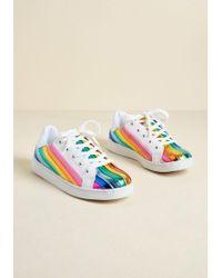 ModCloth - Energetic Presence Rainbow Sneaker - Lyst