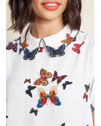701de038ac3 Lyst - Charlotte Russe Plus Size Fluttery Off-the-shoulder Top in Purple