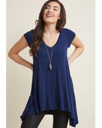 ModCloth | A Crush On Casual Tunic In Navy | Lyst