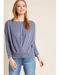 ModCloth - Strike A Repose Long Sleeve Knit Top - Lyst