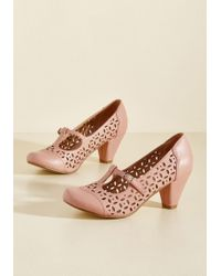 Chelsea Crew - Opting For Intrigue T-strap Heel In Petal - Lyst
