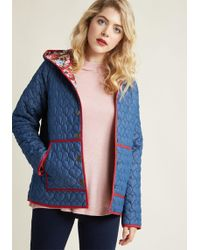 ModCloth - All Work And More Play Reversible Coat In Navy - Lyst