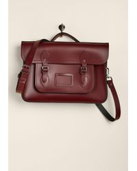 "Cambridge Satchel Company - The Company Bag In Oxblood - 15"" - Lyst"