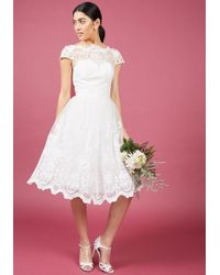 Chi Chi London - Exquisite Elegance Lace Dress In White - Lyst
