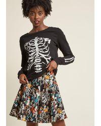 6f7cd27b8283ec Lyst - Forever 21 Scuba Knit Skater Skirt You've Been Added To The ...