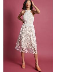 ModCloth - Defining Divine Midi Dress In White - Lyst