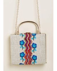 ModCloth - Eclectic Icon Embroidered Bag - Lyst
